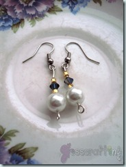 Dangle Pearl with Swarovski Crystal2